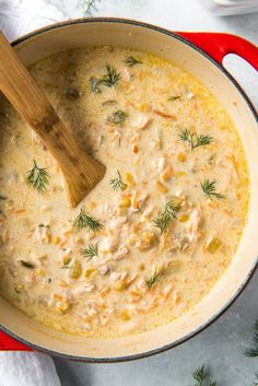 A creamy and delicious chowder recipe with plenty of salmon! Fish Recipes, Seafood Recipes, Soup Recipes, Cooking Recipes, Healthy Recipes, Family Recipes, Appetizer Recipes, Salmon Stew Recipe, Salmon Soup