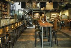 restaurant industrial rustic decor - Buscar con Google