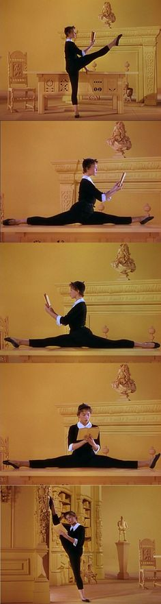 """She reads incessantly."" Leslie Caron playing Lise Bouvier in An American in Paris 1951."