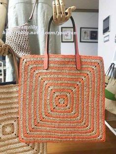 Best 12 To copy: 20 Models of crochet bag ⋆ From Front To The Sea – SkillOfKing Crochet Tote, Crochet Handbags, Crochet Purses, Cute Crochet, Crochet Stitches, Knit Crochet, Crochet Patterns, Sac Granny Square, Big Granny