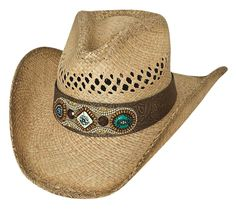 Horse Western Cowboy Indiana Jones Crushable Oiled Leather Hat 24H07BK