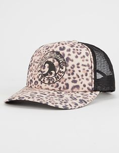 BILLABONG Heritage Mashup Leopard Womens Trucker Hat - LEOPA - JAHTBHERCET.  Leopard printed foam panel with the ... 73df402d61d9