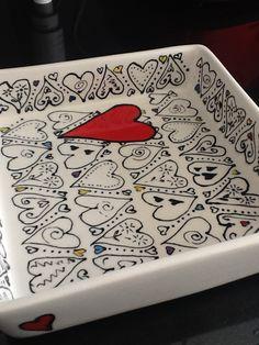 Square ceramic dish