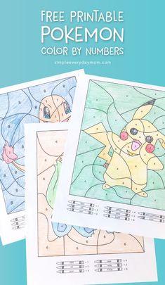 3 Free Pokemon Color By Number Printable Worksheets Kids Crafts free kids coloring crafts diy Pokemon Birthday, Pokemon Party, Birthday Diy, Printable Crafts, Printable Worksheets, Number Worksheets, Kids Worksheets, Free Printables, Pikachu