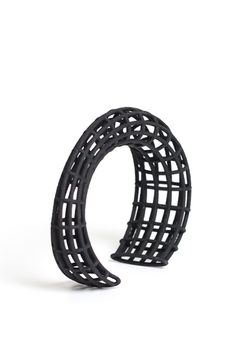 3D Printed Geometrical Bracelet Made Of Nylon. Wonderful Modern Jewelry  Perfect For Your Minimal Style