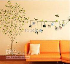 hot design diy memória verde árvore foto moldura parede adesivo casa decoração parede