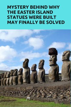Mystery Behind Why The Easter Island Statues Were Built May Finally Be Solved Easter Island Travel, Easter Island Statues, Bermuda Triangle, Brazil Travel, Mysterious Places, The More You Know, Easter Party, Drinking Water, South America