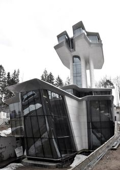 Zaha Hadid's Futuristic Capitol Hill Residence in Moscow, Commissioned by Vladislav Doronin for Supermodel Girlfriend Naomi Campbell.