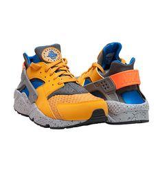 1a79f7a4a7d2 NIKE Air Huarache Run PRM sneaker Low top Men s sneaker Lace up closure  Suede and stretch materials .