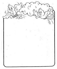 Maestros de Corazón: Notas para enviar a casa (En blanco para editar e imprimir) Page Borders Design, Border Design, Sunday School Coloring Pages, School Border, Notebook Cover Design, Borders For Paper, Chiaroscuro, Pen Art, Writing Paper
