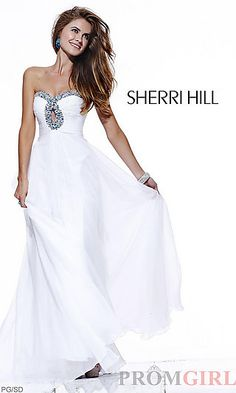 Strapless Evening Gown by Sherri Hill 2845 at PromGirl.com