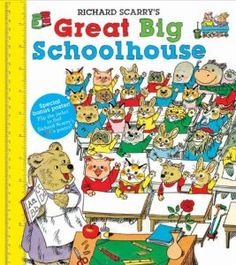 Richard Scarrys Great Big Schoolhouse: Richard Scarry: 9781402758201: Amazon.com: Books I think this was the first book I read on my own as a kid, but in Swedish. I hope I still have it somewhere!