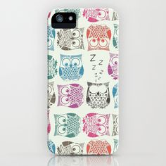 light sherbet owls iPhone Case by Sharon Turner - $35.00