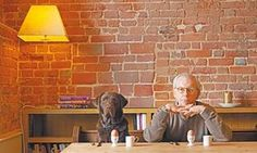 David Starkey and his dog
