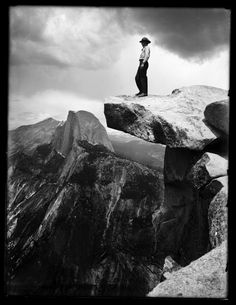 Ansel Adams, Half Dome in the distance, Yosemite National Park. Black And White Landscape, Black N White Images, Ansel Adams Photography, Nature Photography, Fishing Photography, Portrait Photography, Famous Photographers, Landscape Photographers, Ansel Adams Photos