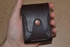 Cuero hombres billetera cartera de cuero tarjeta titular hecha