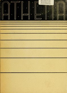 Athena Yearbook, 1936. Click through to see the entire yearbook. :: Ohio University Archives