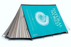 Tent that looks like a book