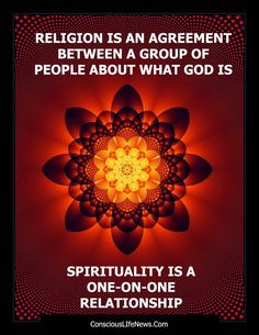Spirituality vs. religion  - Addressing Spirituality - A discussion that defines the difference between religion and spirituality - touches upon a bit of reflection
