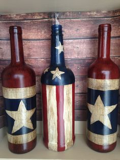 How To Decorate Wine Bottles Best Happy Fourth Of July Collection  Painted Wine Bottles  Pinterest Design Ideas