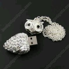 Want: Owl Crystal Jewelry USB Flash Memory Drive Necklace: Computers & Accessories Owl Always Love You, Owl Pendant, Owl Jewelry, Jewlery, Owl Necklace, Chi Omega, Cute Owl, Computer Accessories, Women's Accessories