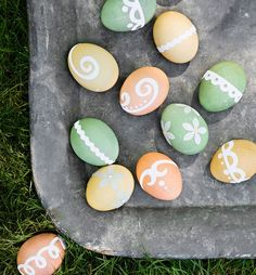 Use Stickers to Create Designs on your Easter Eggs