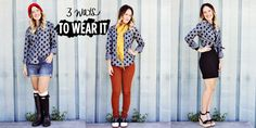 Punctuation Rock Top: 3 Ways To Wear It (A Beautiful Mess for @ModCloth )