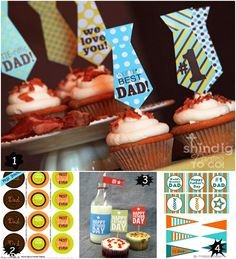 Father's day cupcakes and picks