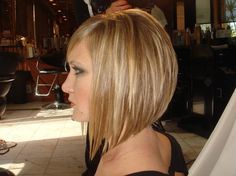 A line inverted medium Bob. I think this is how I want my hair cut..maybe slightly longer.
