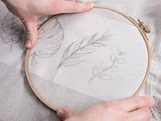 DIY-Anleitung: Pullover mit Statement-Leaves besticken via DaWanda.com