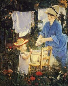 Édouard Manet | Washerwoman 1875  | 145.4 x 114.9 cm Oil on canvas