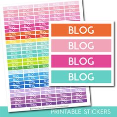 Blog stickers, Blog planner stickers, Blog printable stickers, Blogging stickers, Blog sticker, Writing stickers, Reading stickers, STI-234