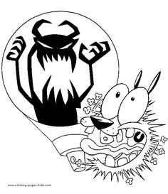 Courage the Cowardly Dog color page. Cartoon characters coloring pages. Coloring pages for kids. Thousands of free printable coloring pages for kids! Space Coloring Pages, Dog Coloring Page, Free Adult Coloring Pages, Cool Coloring Pages, Cartoon Coloring Pages, Printable Coloring Pages, Coloring Pages For Kids, Coloring Books, Kids Coloring