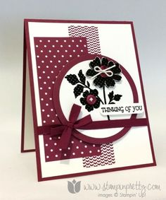Mary Fish: Stampin' Pretty - Stampin Up! Gifts of Kindness Sympathy CArd - 7/14/14  (SU: Gifts of Kindness/ black embossed)