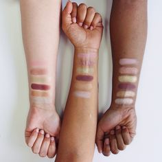 """#ColourPopTakesItOff Our newest summer 6 piece collection """"Mondays In Malibu""""  includes shades top down: SandSwoon + Prickly Pear + Mirage + Hot Tamale + Snakebite + Gecko"""