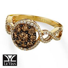 Chocolate Diamond® Ring 1 carat tw 14K Honey Gold™