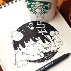 Blog: Starbucks Coffee Cup Doodles - Doodlers Anonymous
