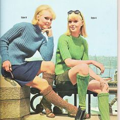 Vintage Mod Knitting Patterns 1960s Pop Fashions by Revvie1, $8.00