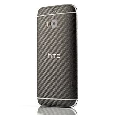 HTC One M8 Carbon Fiber Gun Metal Skin