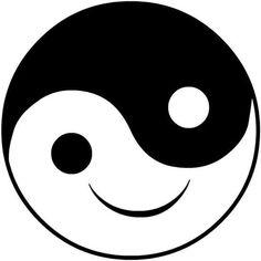 Yin and Yang Ying Y Yang, Yin Yang Art, Smiley Emoji, Emoji Faces, Smiley Faces, Art Drawings For Kids, Easy Drawings, Smileys, Yin Yang Balance