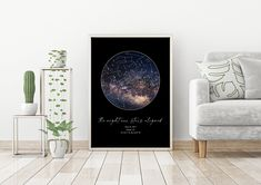 Star Map by Date - Night Sky Print - Custom Star Map - Star Map Gift - Constellation Map - Star Map Poster - Star Map Anniversary - Star map