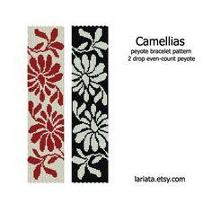 Camellias 2Drop Peyote Bracelet Pattern INSTANT DOWNLOAD