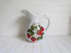 mccoy strawberry | Lovely McCoy Strawberry Pitcher
