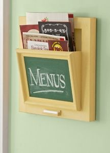A wall-mount organizer—with a chalkboard surface—is a great way to store take-out menus and a tidy alternative to a cluttered drawer. Download the instructions for this easy DIY project here.