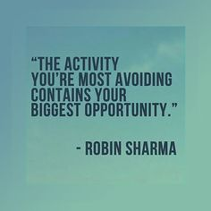 The activity you're most avoiding...
