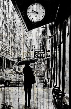"Saatchi Art Artist Loui Jover; Drawing, ""new york walk"" #art"