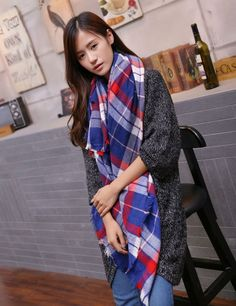 Scarf for Women plaid bufandas mujer 2016 black warm scarf women winter scarves shawls stoles Blanket Scarf Luxury Brand