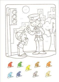 Transportation Preschool Activities, Transportation Unit, Math Activities, Community Helpers, Coloring Books, Comics, Painting, Art, Number