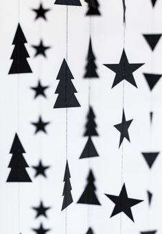 Weihnachten - Girlande Dekoration // Schöne Weihnachtsdeko bei Minidrops >>> #weihnachten  #partyshop  #minidrops