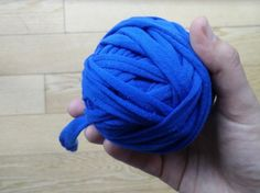 DIY How to make T-shirt yarn